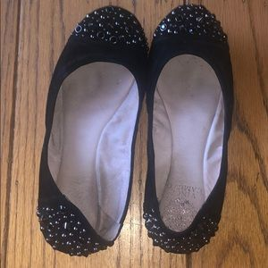 Vince Camuto studded black suede flats